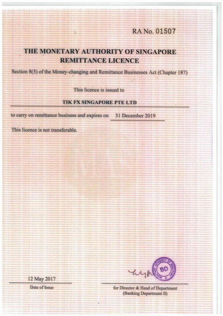 License - Singapore